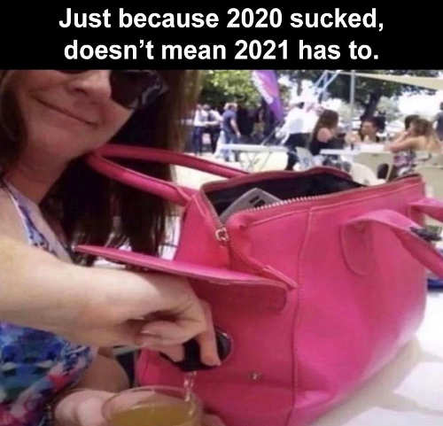2020 sucked not 2021 wine purse