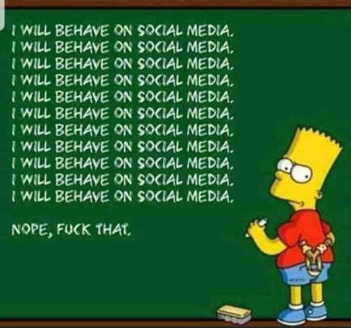 bart simpson will behave on social media fuck that chalkboard