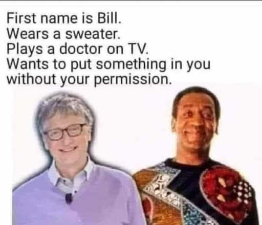 bill gates cosby wears a sweater plays doctor on tv wants put something in you without your permission