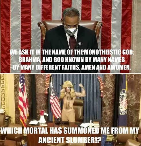 chuck schumer monotheistic god awomen viking moral summoned ancient slumber