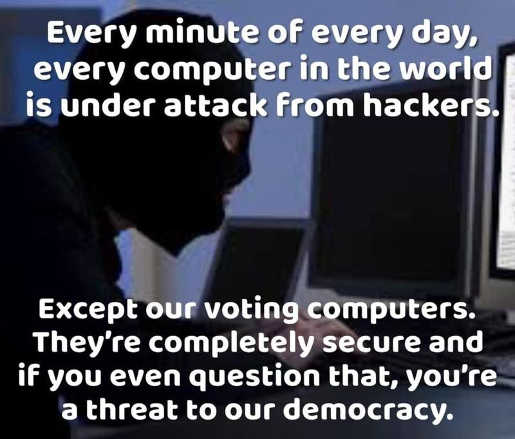 every computer system under attack except voting computers completely secure