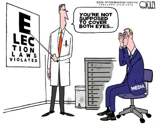 eye chart election laws violated media not supposed to cover both eyes