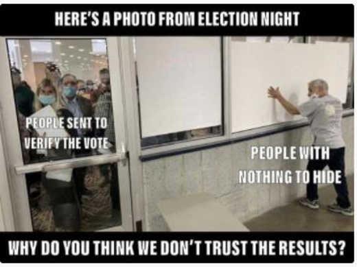 flashback photo election night covering windows