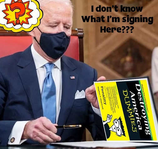 joe biden destroying america for dummies what am i signing