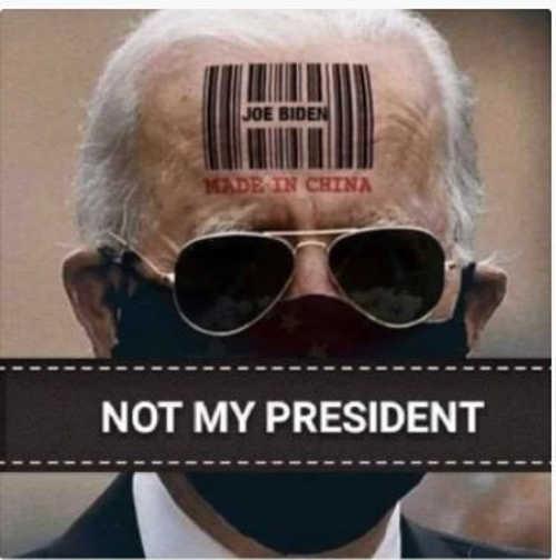 joe biden made in china barcode not my president