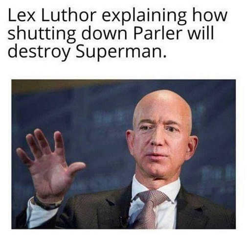 lex luthor explaining parler ban destroy superman jeff bezos