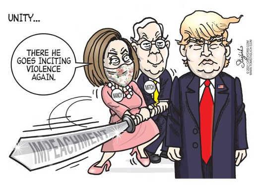 mitch nancy pelosi impeachment trump inciting violence