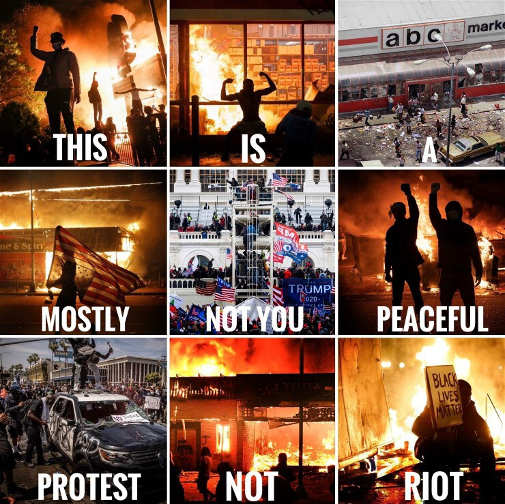 peaceful protests blm antifa riots not trump supporters american patriots