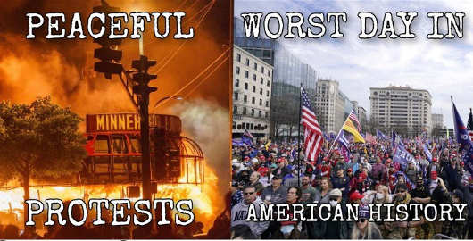 peaceful protests blm trump supporters worst day american history