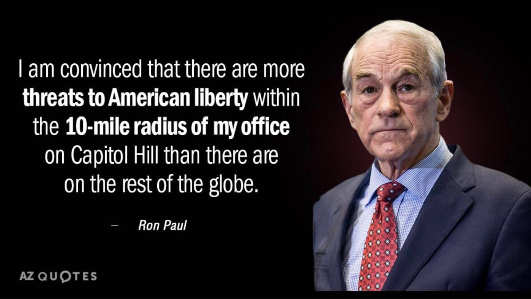 quote ron paul most threats to liberty near capitol hill