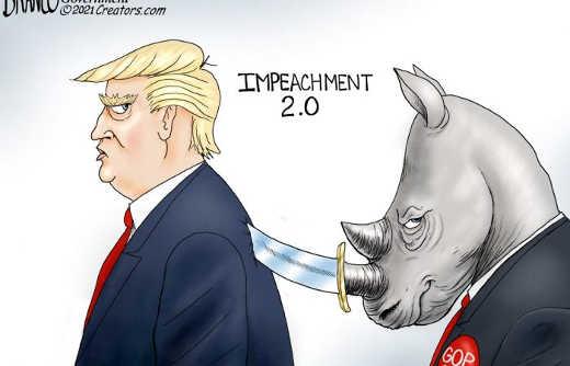 republicans impeachment 2.0 stabbing trump in back