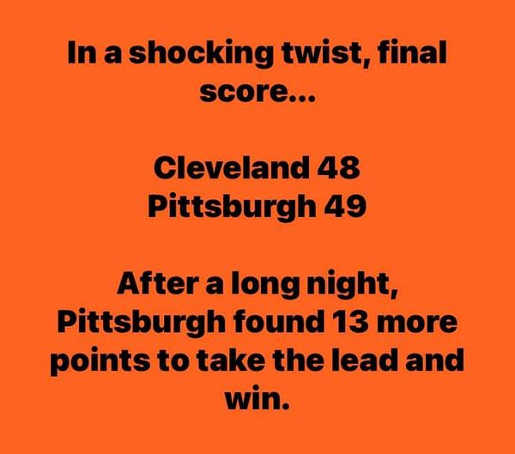 shocking twist cleveland browns pittsburgh win