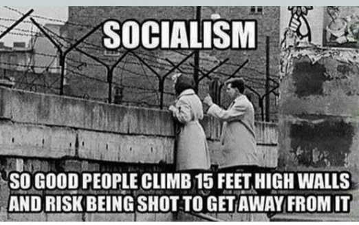 socialism so popular climb barbed wire fence risk being shot