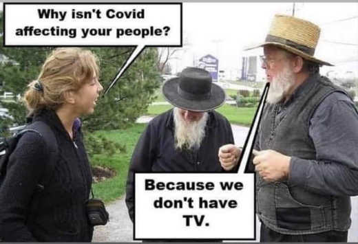 why covid doesnt affect amish dont have tv