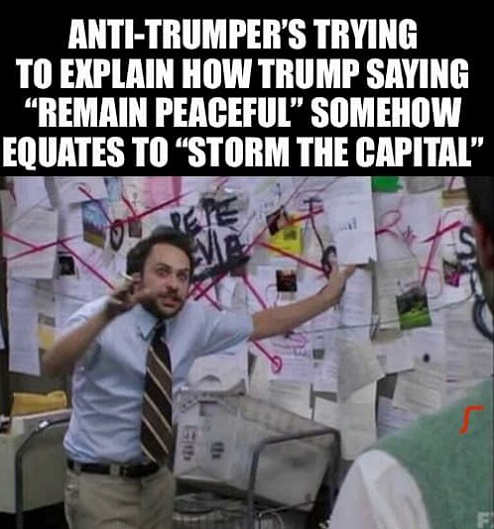 anti trumpers explaining remain peaceful equates storm capital