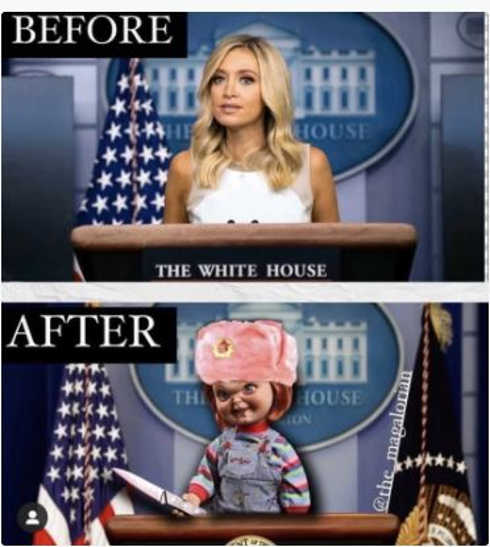 before after white house press secretary chucky