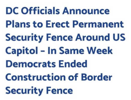 cant make up dc officials erect security fence same week ended border fence