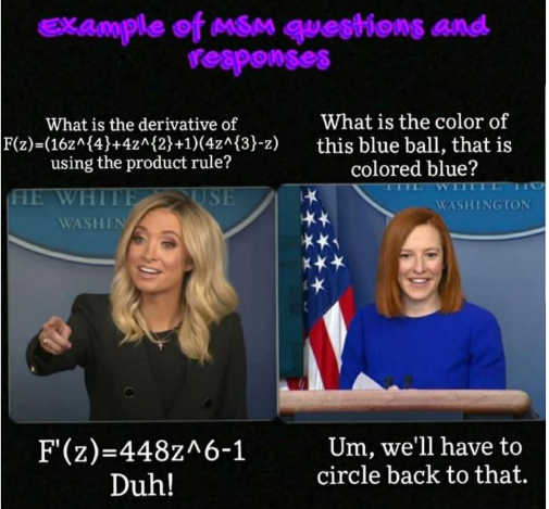 comparison trump vs biden mainstream media press secretary question circle back