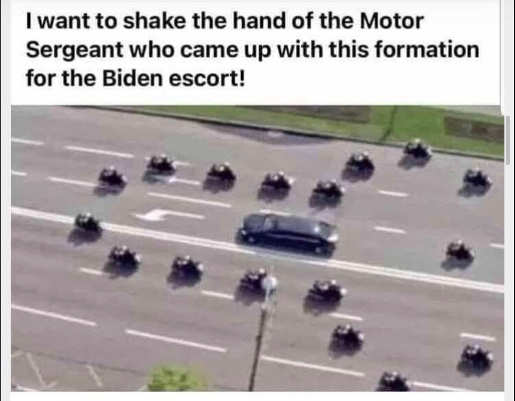 cops penis formation for biden thanks motor sergent