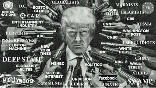donald trump guns pointed at media deep state big tech