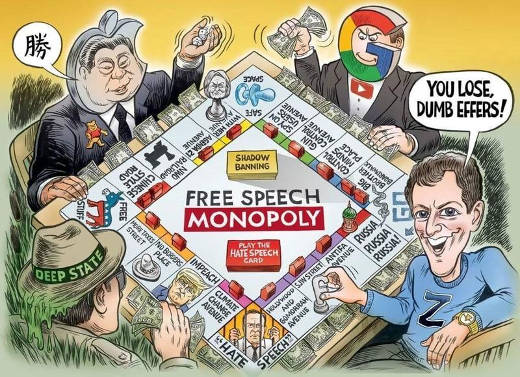 google free speech monopoly china deep state you lose