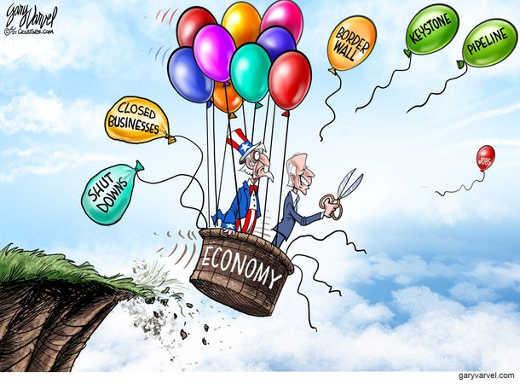 joe biden cutting keystone border wall economy balloon
