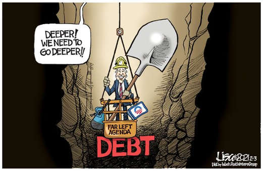 joe biden deeper far left agenda debt digging