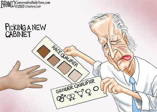 joe biden picking new cabinet race gender qualifier cards
