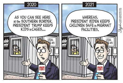 mainstream media 2020 kids cages 2021 biden safe migrant facilities