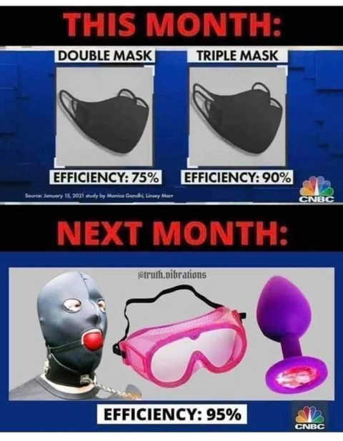 mask double triple goggles ball gag next month