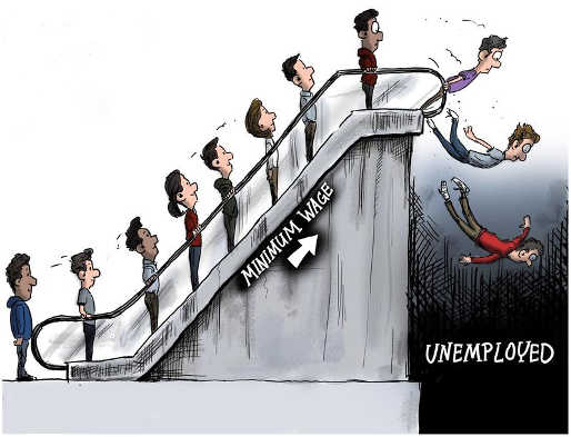 minimum wage escalator unemployed
