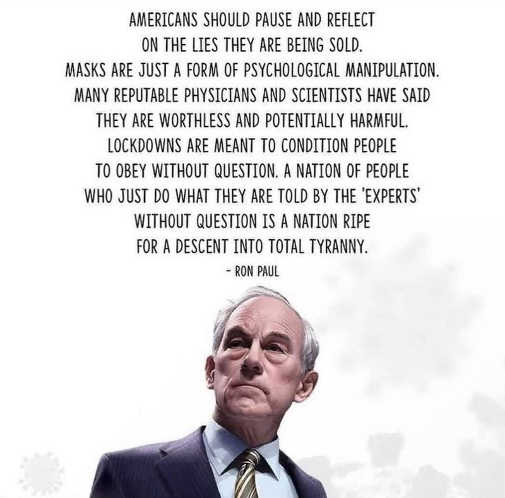 quote ron paul americans masks form of psychological manipulation tyranny