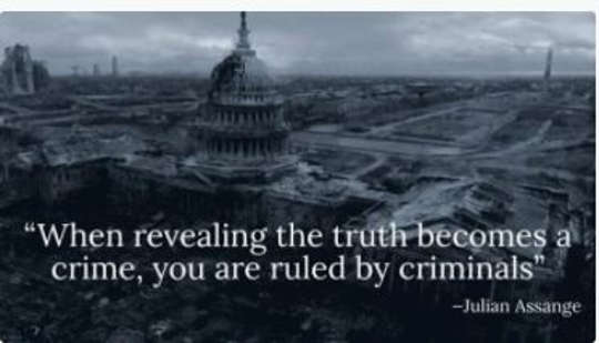 quote when revealing truth is crime ruled by criminals julian assange