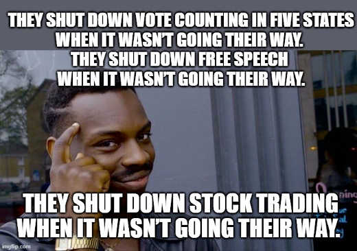 shut down voting free speech stock trading when wasnt going their way