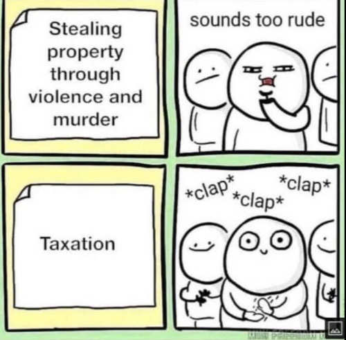 stealing property violence murder too rude taxation applause
