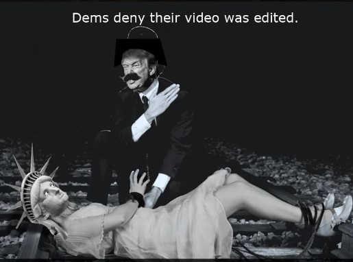trump slapping statue liberty democrats deny video edited