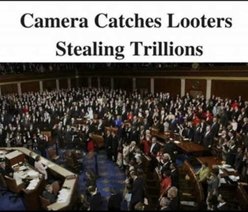 camera catches looters stealing trillions congress