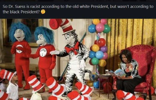 dr seuss racist according to old white president but not young black one obama