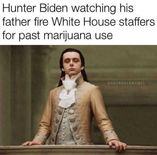 hunter biden watching joe fire white house staffers past marijuana use