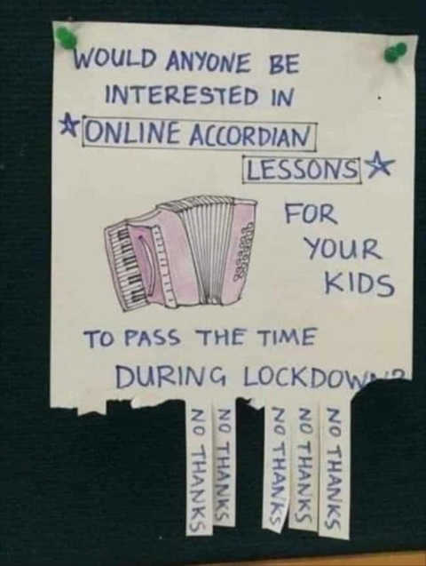interested online accordian lessons lockdown
