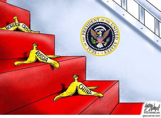 joe biden stairs slipping border russia china