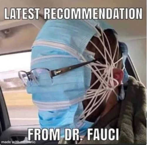latest recommendation dr fauci masks covering entire head
