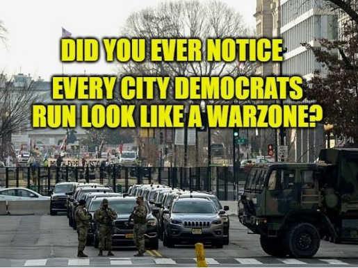 question did you notice every democrat run city looks like war zone