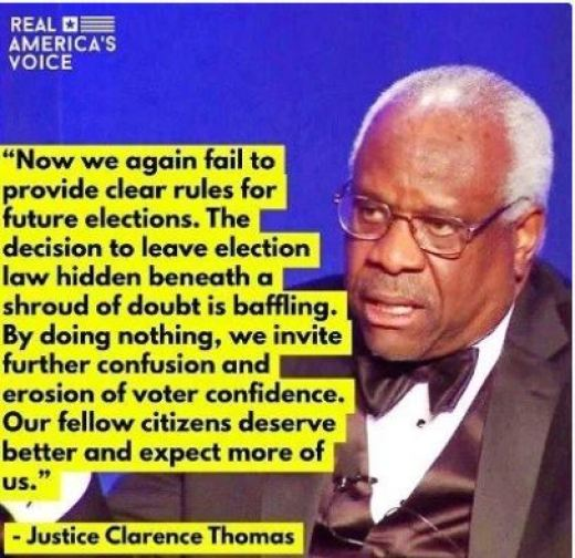 quote clarence thomas if fail to give clear rules elections erosion voter confidence