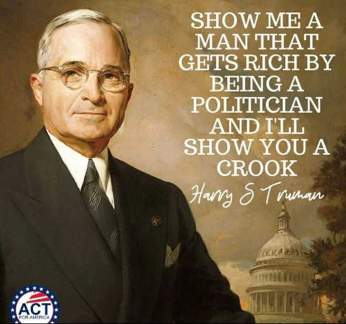 quote harry truman politician rich show you crook