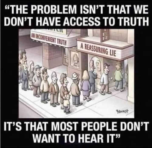 quote problem isnt access truth most people dont want to hear