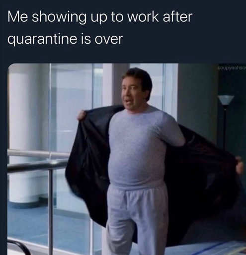 tim allen me in quarantine coming back to work