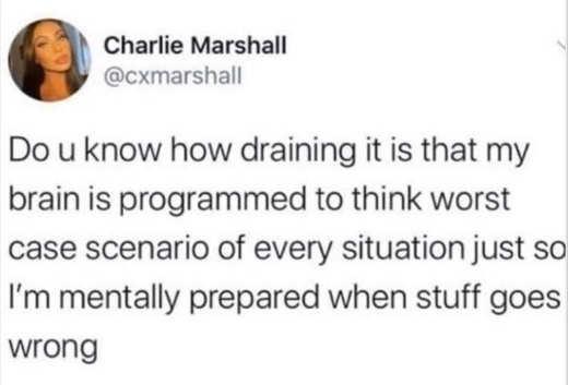 tweet charlie marshall draining programmed worst case scenario