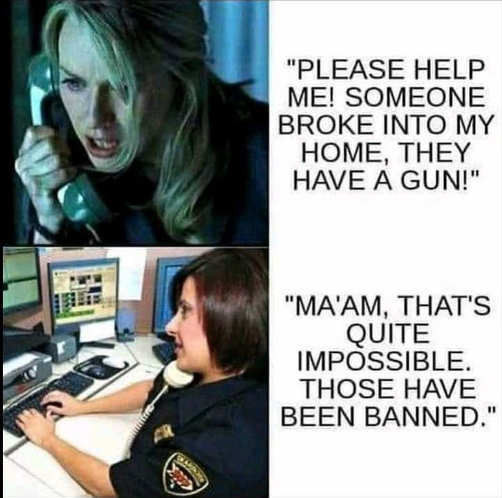 911 call breakin with gun dispatcher impossible illegal