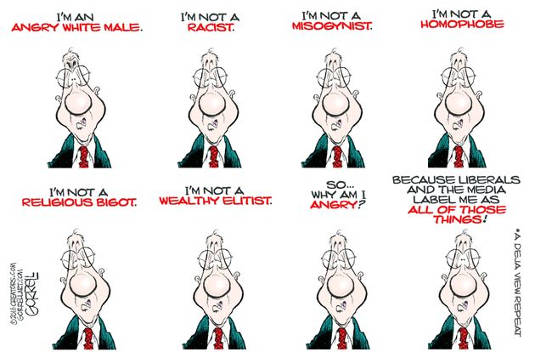 angry white male not racist bigot elitist misogynist media labels